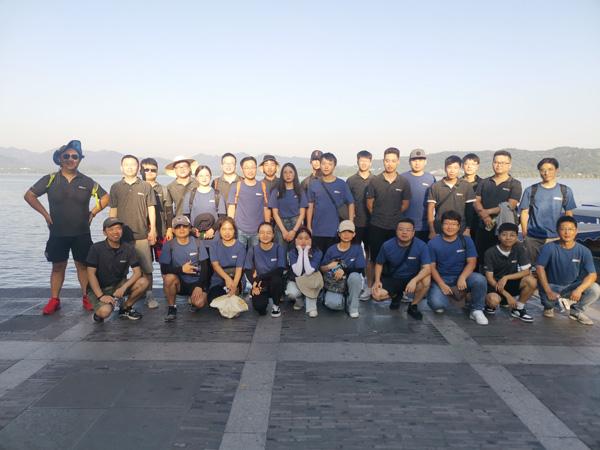 Under 40degree, Walk 12KM, See IECHO strong overseas team!!!