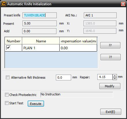 Auto Knife Initialization