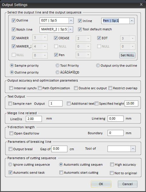 Output setting
