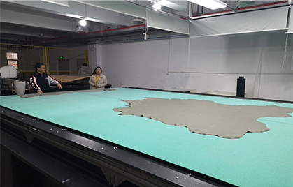 10,000 ft² in 11 hours, IECHO leather cutting production line